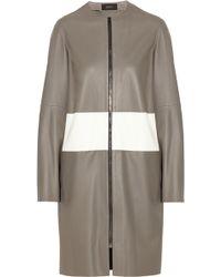 JOSEPH - Sydney Striped Leather Coat - Lyst