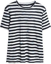 Proenza Schouler - Printed Slub Cotton-jersey T-shirt - Lyst