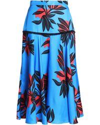 ROKSANDA - Printed Silk-satin Midi Skirt - Lyst