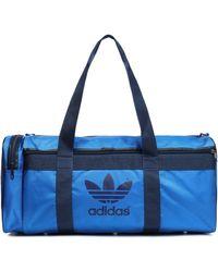 141a7213cc adidas Originals - Woman Printed Shell Gym Bag Blue - Lyst
