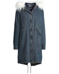 Yves Salomon - Reversible Shearling-trimmed Denim And Quilted Shell Hooded Parka - Lyst