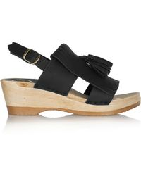 No.6 - Tassel Leather Wedge Sandals - Lyst