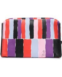 Emilio Pucci - Small Printed Textured-leather Cosmetic Case - Lyst