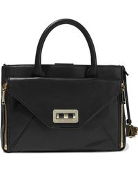 0bfd14cedb Diane von Furstenberg - Woman 440 Gallery Secret Agent Leather Shoulder Bag  Black - Lyst