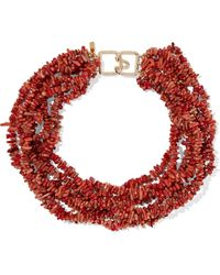 Kenneth Jay Lane - Bead Gold-tone Necklace - Lyst