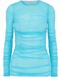 Emilio Pucci - Ruched Stretch-crepe Top - Lyst