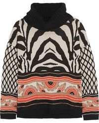 Alice By Temperley - - Ali Printed Cotton-blend Jumper - Taupe - Lyst