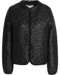 See By Chloé - Qilted Shell Bomber Jacket - Lyst