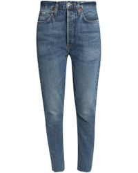 Levi's - Distressed High-rise Skinny Jeans - Lyst
