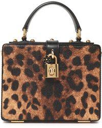Dolce & Gabbana - Dolce Box Leopard-print Textured-leather Shoulder Bag Animal Print - Lyst