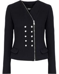 Versus - Buttton-detailed Gauze Jacket - Lyst
