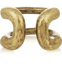 Giles & Brother - Cortina Burnished Gold-tone Ring - Lyst