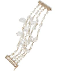 Rosantica - Gold-tone, Faux Pearl And Crystal Bracelet - Lyst