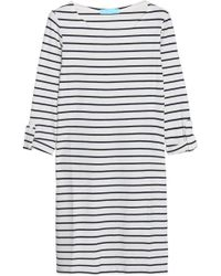 Melissa Odabash - Striped Ribbed-knit Coverup - Lyst