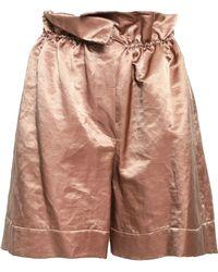 Brunello Cucinelli - Gathered Satin Shorts Antique Rose - Lyst