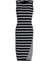 Line - Striped Knitted Dress - Lyst