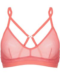 beb7c47dd855f Lyst - Spanx Allaround Convertible Soft Bandeau Bra Coral Rose in Pink