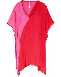 Heidi Klum - Tamarin Sands Two-tone Picot-trimmed Cady Coverup - Lyst