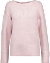 MILLY - Stevie Wool Sweater Pastel Pink - Lyst