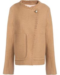 See By Chloé - Whipstitched-trimmed Wool-blend Jacket - Lyst