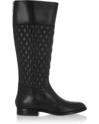 Michael Kors - Mina Quilted Leather Knee Boots - Lyst