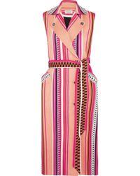 Temperley London - Charm Belted Paneled Jacquard Vest Multicolor - Lyst