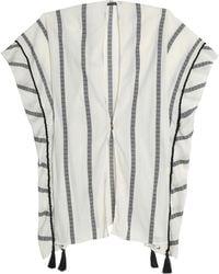ViX - Tasselled Striped Cotton-gauze Coverup - Lyst