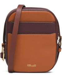 Diane von Furstenberg - Two-tone Leather Shoulder Bag - Lyst
