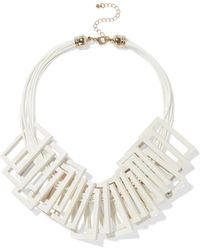 Kenneth Jay Lane - Gold-tone, Cord And Wood Necklace - Lyst