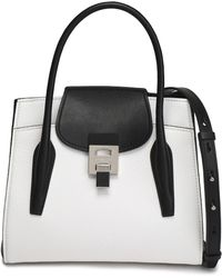 Michael Kors - Two-tone Smooth And Textured-leather Tote - Lyst