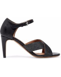 M Missoni - Leather And Mesh Sandals - Lyst