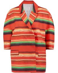 Stella Jean - Striped Cotton Jacket - Lyst