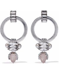 Elizabeth Cole - Silver-tone, Crystal, Stone And Faux Pearl Earrings - Lyst