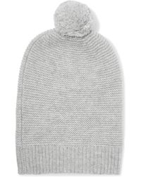 N.Peal Cashmere - Pompom-embellished Cashmere Beanie - Lyst
