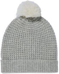 Madeleine Thompson - Monica Pompom-embellished Waffle-knit Wool And Cashmere-blend Beanie - Lyst