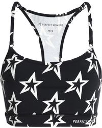 Perfect Moment - Printed Stretch-jersey Sports Bra - Lyst