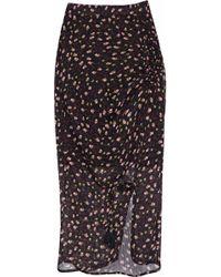 Rebecca Minkoff - Amaya Ruched Floral-print Chiffon Skirt - Lyst