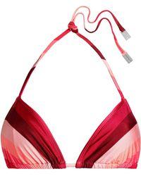 Zimmermann - Printed Triangle Bikini Top - Lyst