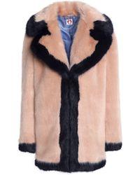 Shrimps - Woman Muriel Faux Fur Coat Blush - Lyst