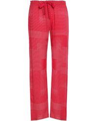 Calvin Klein - Woman Printed Crepe Pajama Pants Claret - Lyst