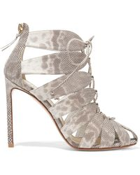Francesco Russo - Lace-up Karung Sandals - Lyst
