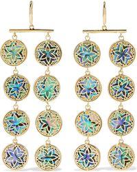 Noir Jewelry - 14-karat Gold-plated Iridescent Resin Earrings Gold - Lyst