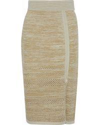 House of Dagmar - Salla Metallic Pointelle-trimmed Knitted Skirt - Lyst
