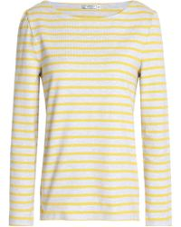 Petit Bateau - Striped Cotton-jersey Top - Lyst