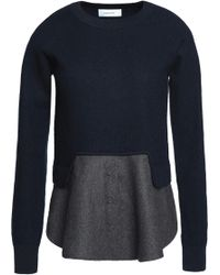 Carven - Layered Wool Jumper - Lyst