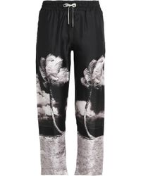 Orlebar Brown - Cropped Printed Silk-twill Straight-leg Pants - Lyst