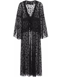 Anna Sui - Ruffle-trimmed Embroidered Mesh Robe - Lyst