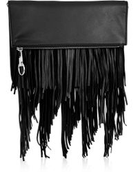 Elizabeth and James - Andrew Fringed Leather Clutch - Lyst