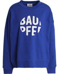 Baum und Pferdgarten - Appliquéd Cotton-blend Sweatshirt Bright Blue - Lyst