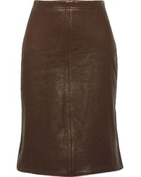 Title A - Textured-leather Skirt - Lyst